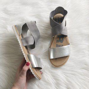 SOREL Ella Silver Sandal SZ 7